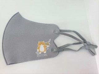 オリジナルマスク/グレー/紐タイプ【猫ver】