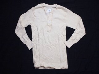 80's Vintage USA製【U.S.ARMY】米軍  冬期用  ヘンリーネック アンダーシャツ 長袖カットソー 無地 デッドストック◆Size:US-S【DEAD STOCK】