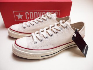 【Converse Chuck Taylor All Star OX CT70】 コンバース チャックテイラー オールスター USA限定 三ツ星 生成り キャンバス 142338C