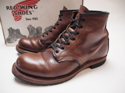 【REDWING】BECKMAN ROUND BOOTS レッドウイング ベックマン プレーントゥブーツ 9016◆Size: US-8 D(26cm)【USED】