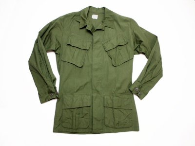 60's Vintage【US.ARMY】米軍 ビンテージ ジャングルファティーグジャケット 4th ミリタリー ジャケット(1801-197)◆Size:US-XS-R【DEADSTOCK】