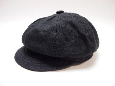 USA製【NEWYORKHAT】ニューヨークハット キャスケット 6225 Linen Spitfire リネン スピットファイア 黒 帽子【USED】