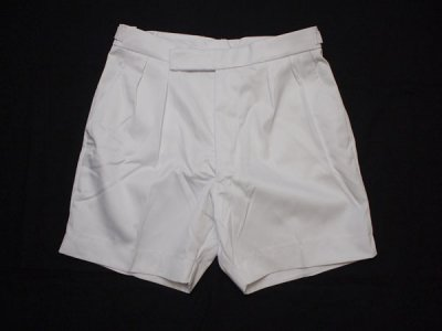 1999-2000 【British Royal Navy】 イギリス軍 ショートパンツ 白 SHORTS MANS WHITE 【DEADSTOCK】