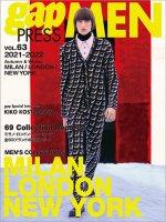 2021-2022 A/W gap PRESS MEN vol.63 MILAN/LONDON/NEW YORK