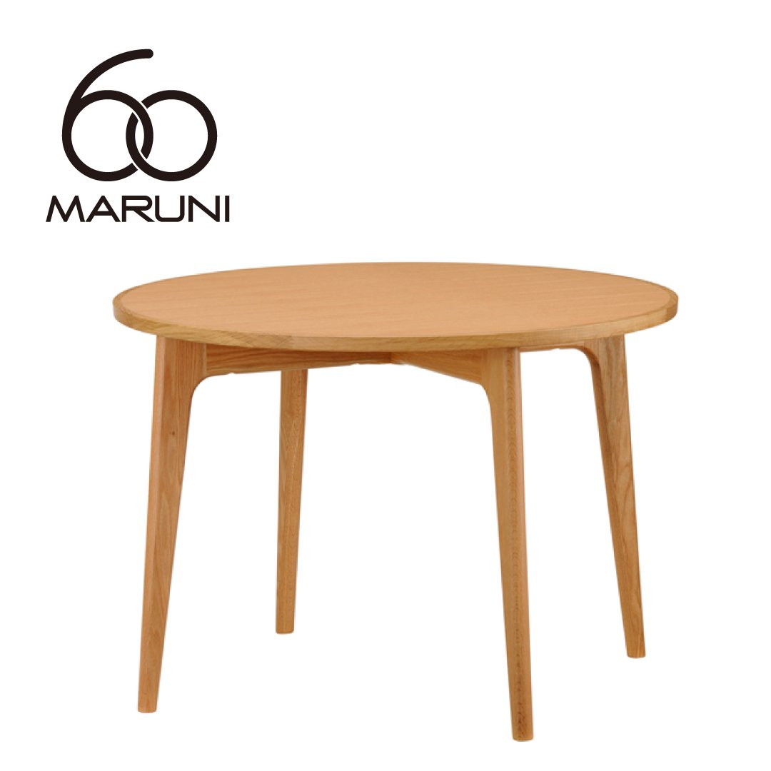 マルニ60+ オークフレーム ラウンドテーブル100