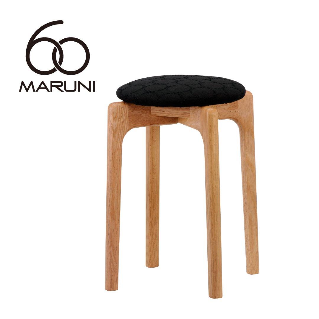 マルニ60+ オークフレーム  スタッキングスツール (ミナペルホネンdop-tambourine/ブラック)