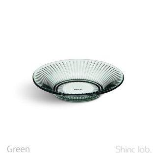 KAHLER HAMMERSHOI ガラスプレート17cm グリーン