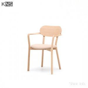 KARIMOKU NEW STANDARD CASTOR ARM CHAIR PLUS PADキャストールアームチェア プラスパッド ピュアオーク