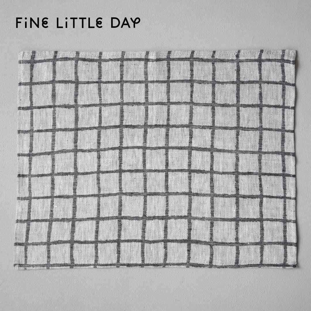 Fine Little Day ランチョンマット RUTIG  ブラック×ホワイト