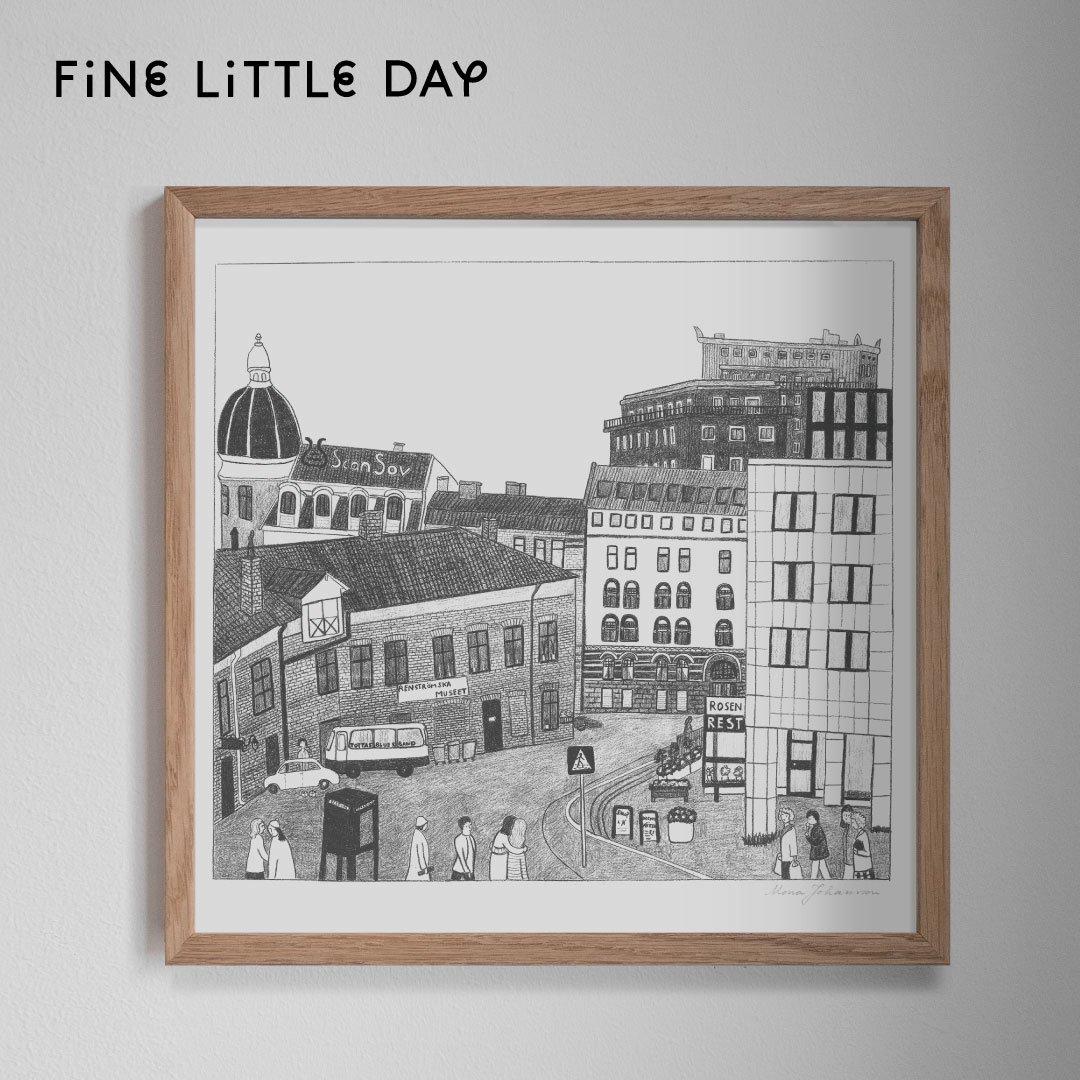 Fine Little Day ポスター KVARTER  50×50cm