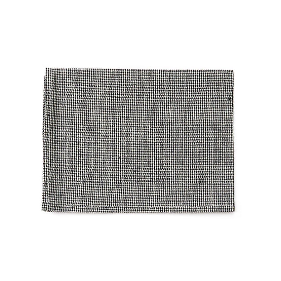 fog linen work(フォグリネンワーク) リネンキッチンクロス 白黒千鳥格子 LKC001-BKCHE