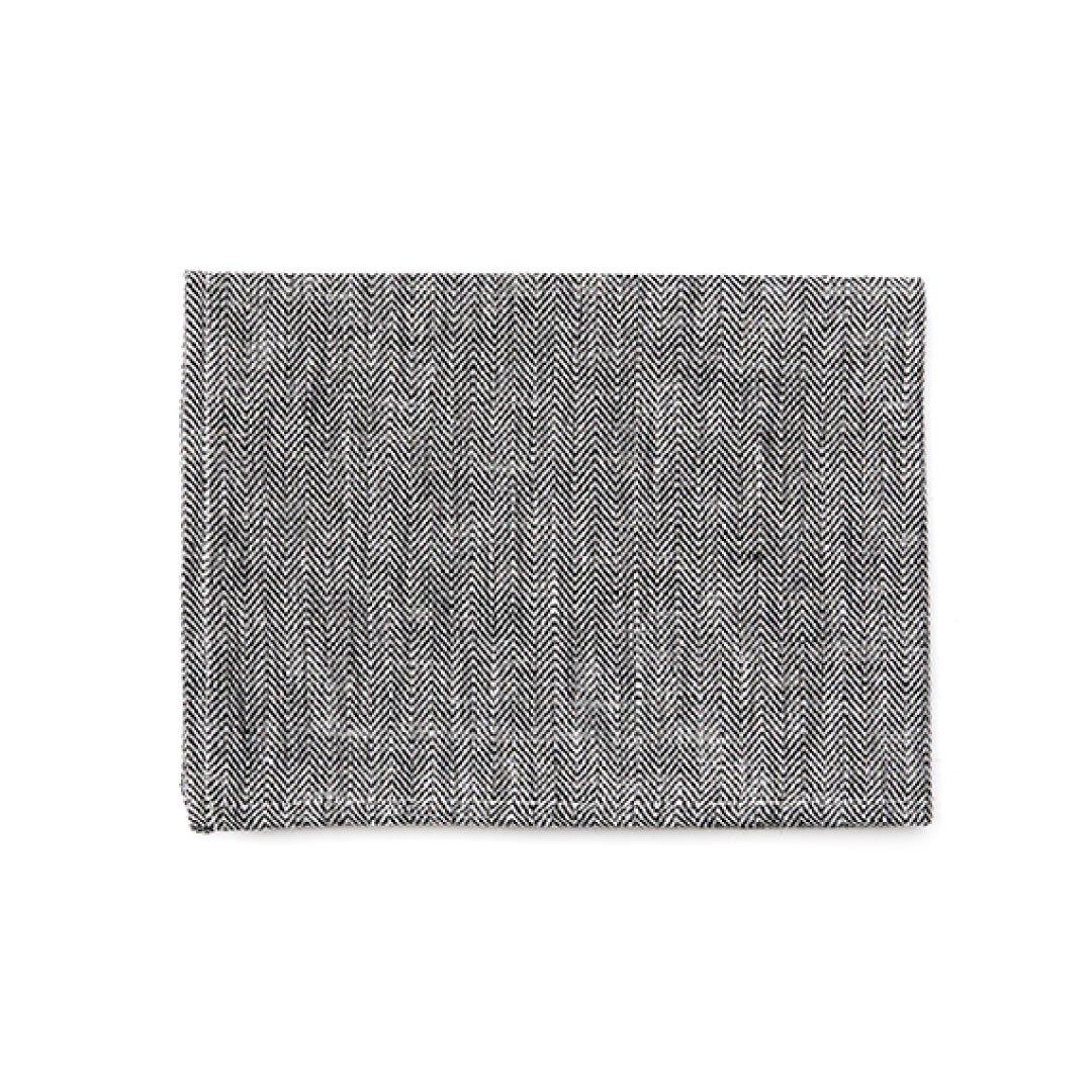 fog linen work(フォグリネンワーク) リネンキッチンクロス ヘリンボーンブラック