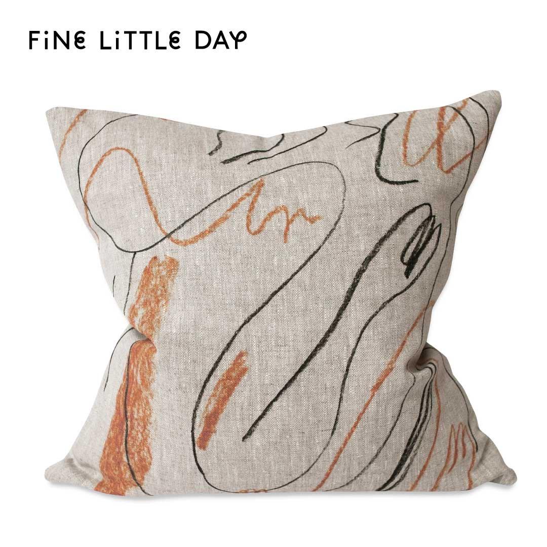 Fine Little Day クッションカバー ALINA  オレンジ