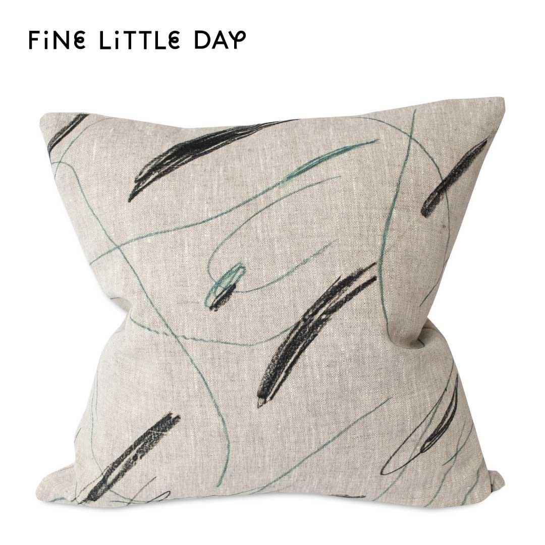 Fine Little Day クッションカバー ALINA  グリーン