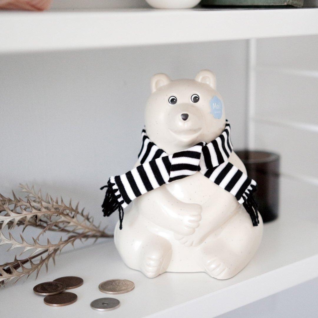 Polar Bear Money Box シロクマ貯金箱 2020
