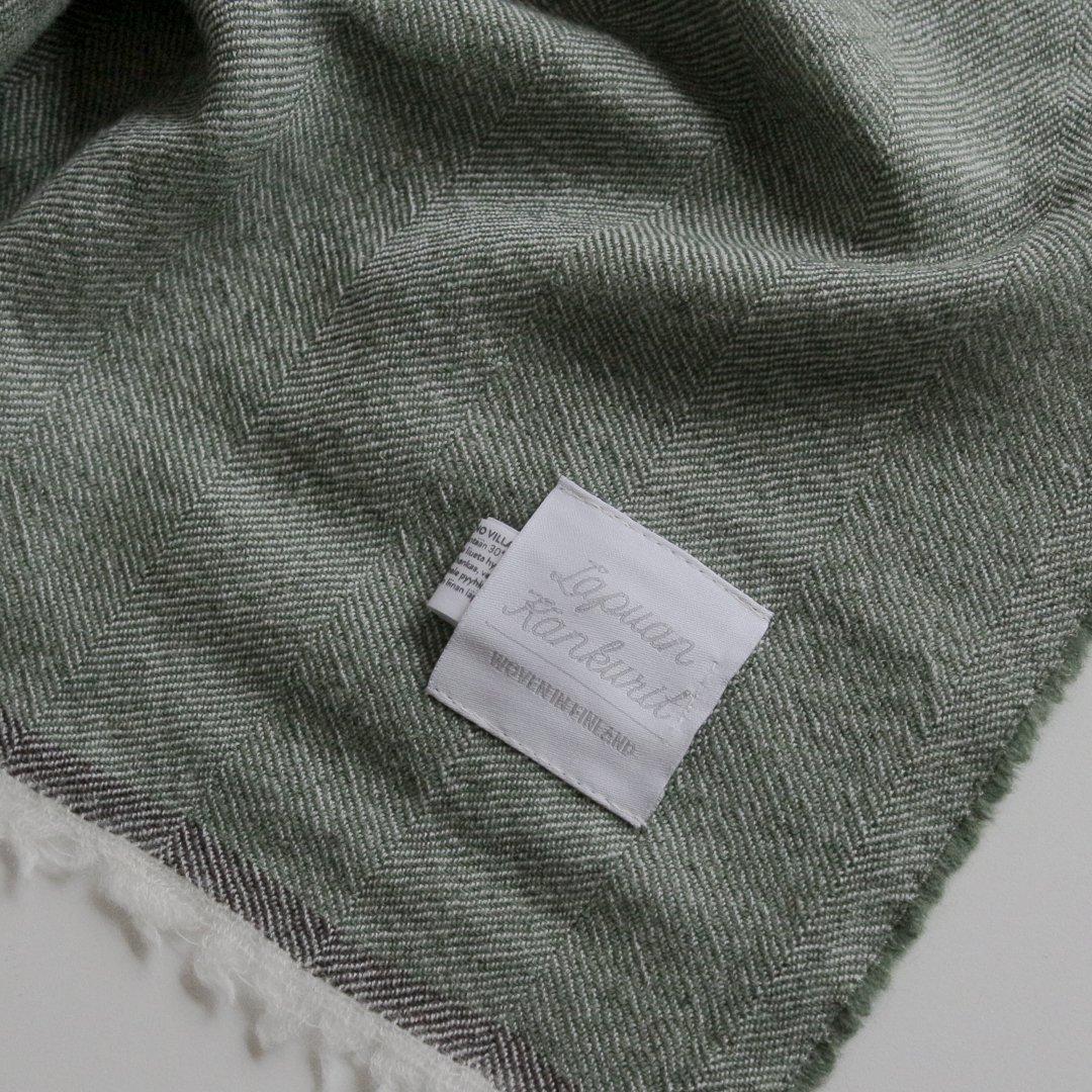 Lapuan Kankurit(ラプアンカンクリ) スカーフ VIIRU 75×220cm グリーン