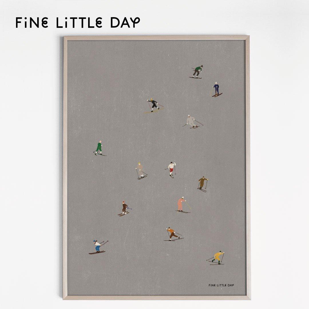 Fine Little Day ポスター SKIERS 50×70cm