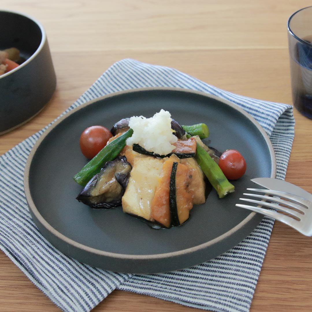 HASAMI PORCELAIN プレート Φ185×21 ブラック HPB003