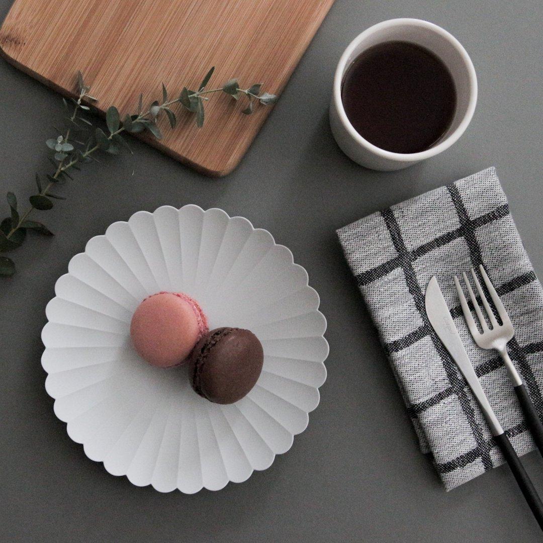 1616/arita japan TY パレス 160 プレーングレー 2枚セット【化粧箱入】