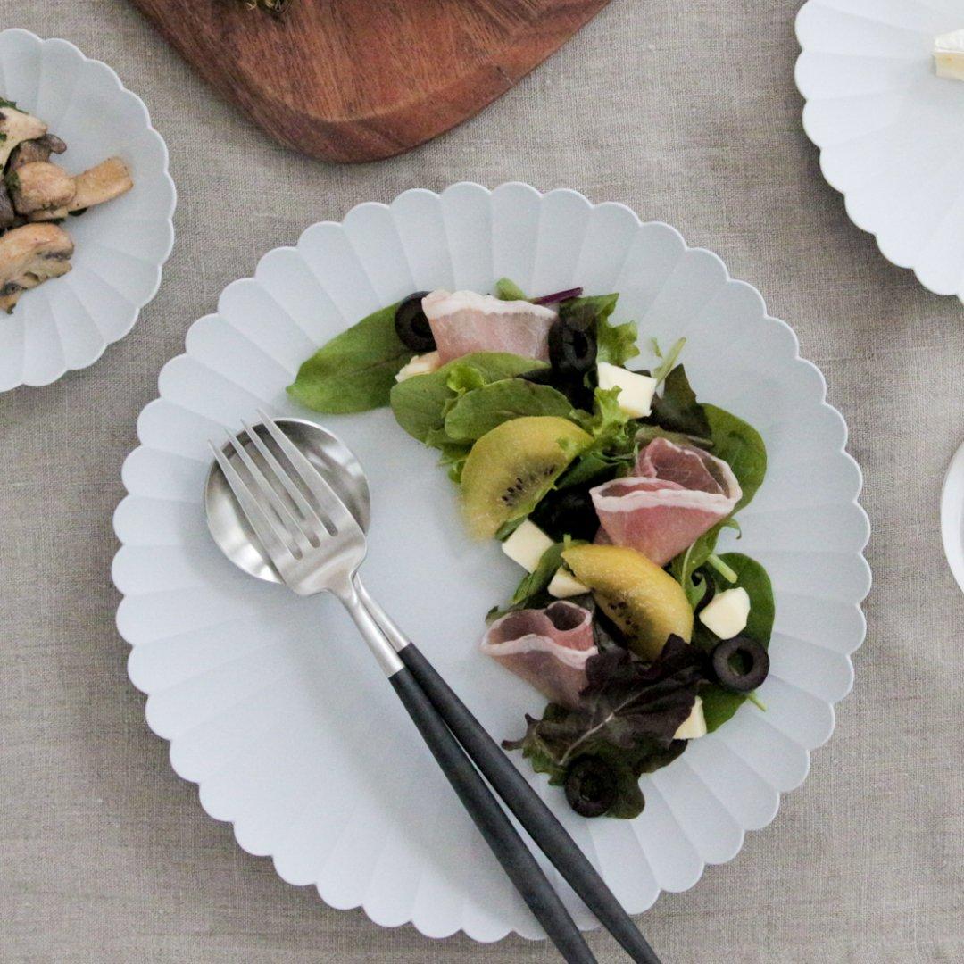 1616/arita japan TY パレス 220 プレーングレー 2枚セット【化粧箱入】