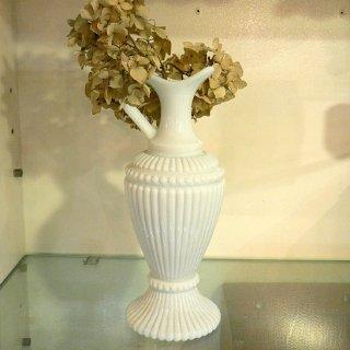 フランス1940年代ミルクガラス製フラワーベース 【 アンティーク1704-14 】