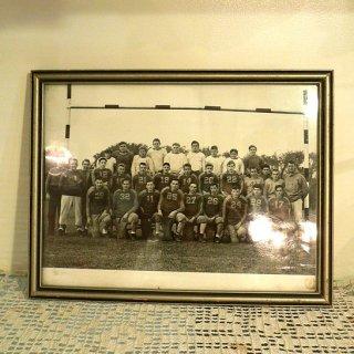 アメリカ1950〜'60年代、古い写真入り木製フォトフレーム 【 アンティーク1704-11 】