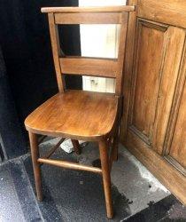 イギリス1930年代チャーチ・チェア(教会の椅子)【 アンティーク1707-01 】