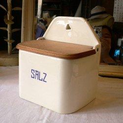 ドイツ1940年代 Sfaffer社製 陶器SALZ(塩)入れ 【 アンティーク1707-05 】