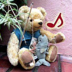 ドイツ、緑ハーマン社・2007年製「釣りするベア / Angler Bear 」【 H-002 】