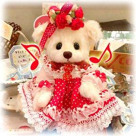 """深田日実子さんのブランド * """" Sweet Hearts Bears """" * 「紅バラ姫」* 赤 × 白のコラボレーションがキュートなドレスと花冠で☆【 A-2058 】<img class='new_mark_img2' src='https://img.shop-pro.jp/img/new/icons11.gif' style='border:none;display:inline;margin:0px;padding:0px;width:auto;' />"""