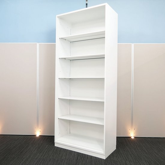 【空間を明るくする ホワイト色】【中古】【オープン書庫】ウチダ/ハイパーストレージ HS 高さ2160mm