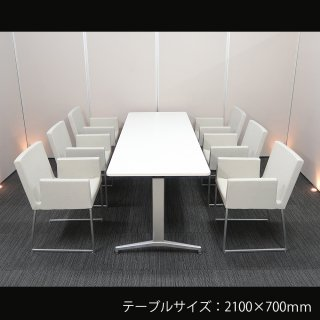 【エッジのきいたシャープなフォルムが、スタイリッシュな空間を演出する】【テーブル+チェア�脚セット】【中古】イトーキ/DE + パブリック/ファルス