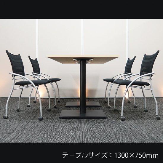 【ウッド調のカフェスタイルで、居心地の良い 優しい空間をつくり出す】【テーブル+チェア�脚セット】【中古】イトーキ/プリエ + カフェテーブル