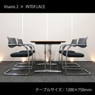 【テーブル+チェア�脚セット】【中古】<br>■ヴィトラ/ビザビ 2+オカムラ/インターレイス