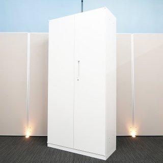 【基本機能を追求した シンプル デザインが、心地良い空間をつくり出す】【奥行き400mmの省スペース対応】【両開き書庫】【中古】ウチダ/ハイパーストレージ HS ホワイト色 高さ1850mm