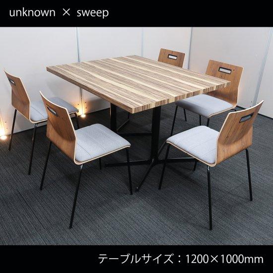【カフェスタイルの自由な空間がつくり出す、集う人々の「より良い働き方、より良い生き方」】【テーブル+チェア�脚セット】【中古】SOGOKAGU/テーブル+ オカムラ/スイープ