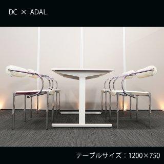 【コンパクト&スタイリッシュ】【テーブル+チェア�脚セット】【中古】イトーキ/DC + ADAL(アダル)