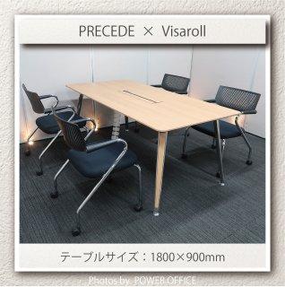 【テーブル+チェア�脚セット】【中古】<br>■オカムラ/プリシード+ヴィトラ/ビザロール2