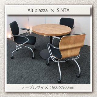 【テーブル+チェア�脚セット】【中古】<br>■オカムラ/アルトピアッツァ + イトーキ/シンタ