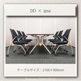 【テーブル+チェア�脚セット】【中古】<br>■イトーキ/DD + イプサ