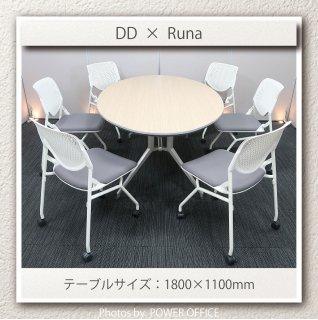 【テーブル+チェア�脚セット】【中古】<br>■イトーキ/DD + オカムラ/ルナ