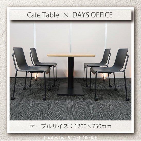 【テーブル+チェア�脚セット】【中古】 ■パブリック/カフェテーブル + コクヨ/デイズオフィス オフセットフレーム