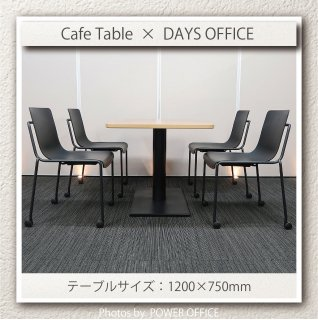 【テーブル+チェア�脚セット】【中古】<br>■パブリック/カフェテーブル + コクヨ/デイズオフィス オフセットフレーム