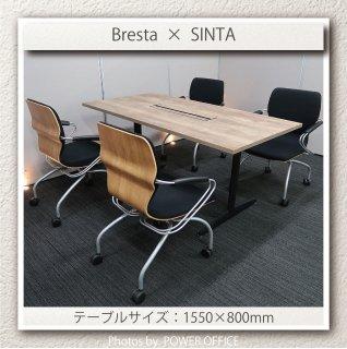 【テーブル+チェア�脚セット】【中古】<br>■オカムラ/ブレスタ + イトーキ/シンタ