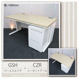 <img class='new_mark_img1' src='https://img.shop-pro.jp/img/new/icons1.gif' style='border:none;display:inline;margin:0px;padding:0px;width:auto;' />【オフィスデスク(平机+ワゴンセット)】【中古】<br>■イノウエ/GSH + イトーキ/CZR