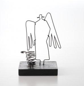 Wire Sketch 天使のペン立て WSP001