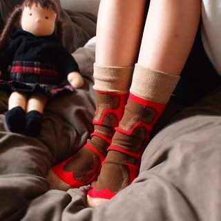 pop.pop.pop socks nara-red (23~26cm)