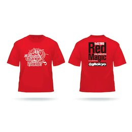 愛夢GLTOKYO Red Magic Tシャツ 赤(S〜XL)