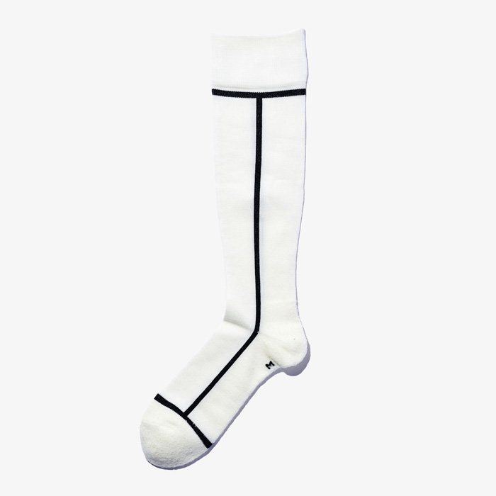 COMPRESSION SOCKS  02×10 Ivory×Black
