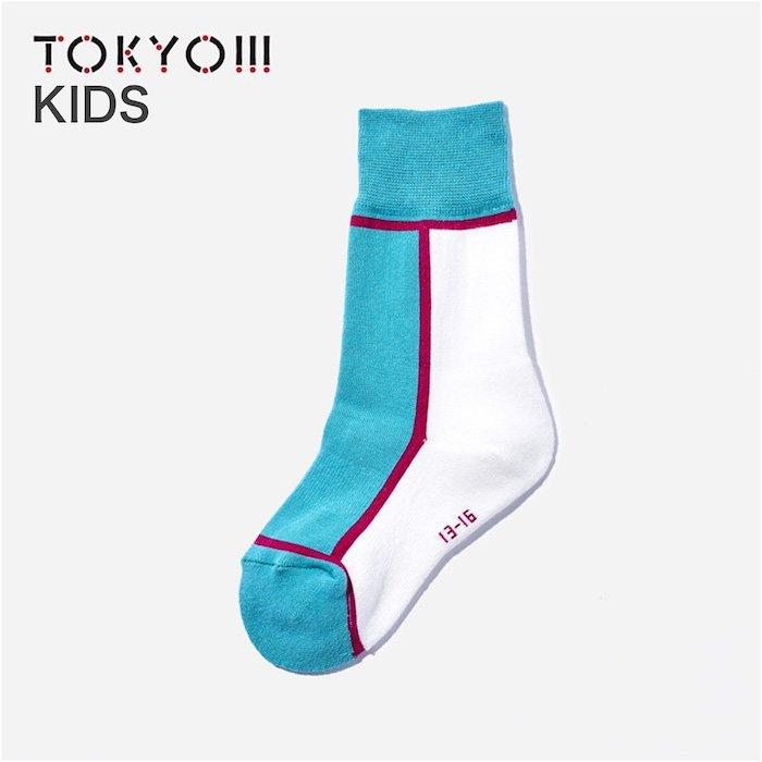 TOKYO!!!×CHICSTOCKS  キッズ エメラルド×ピンク